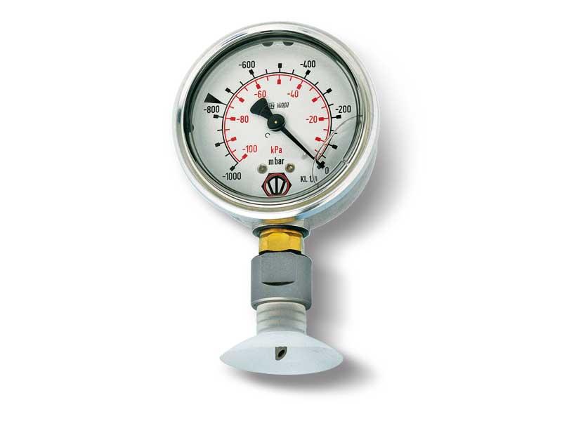 Vacuum gauge with steel punch