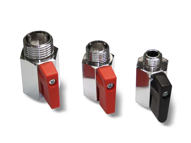 Manual 2-way miniature vacuum valves