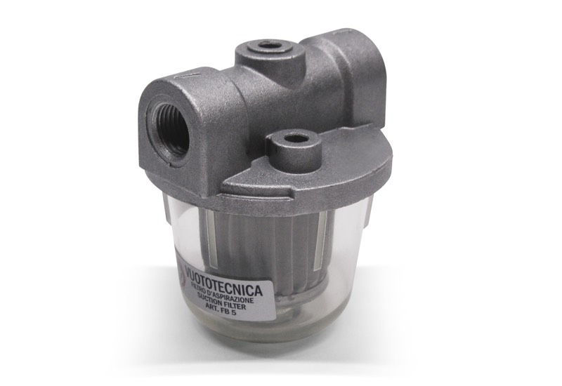 FB suction filter with metal cartridge