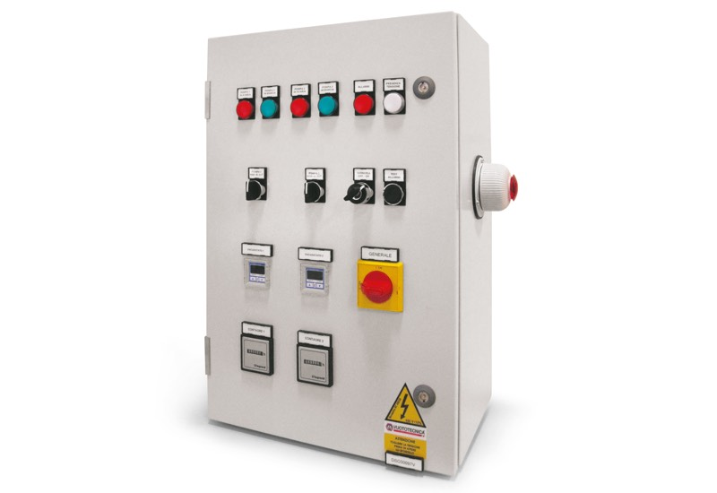Switchgear for safety pump set with two pumps