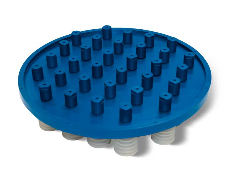 Vacuum cup suction plates with shut-off valves P2V2E for OCTOPUS systems