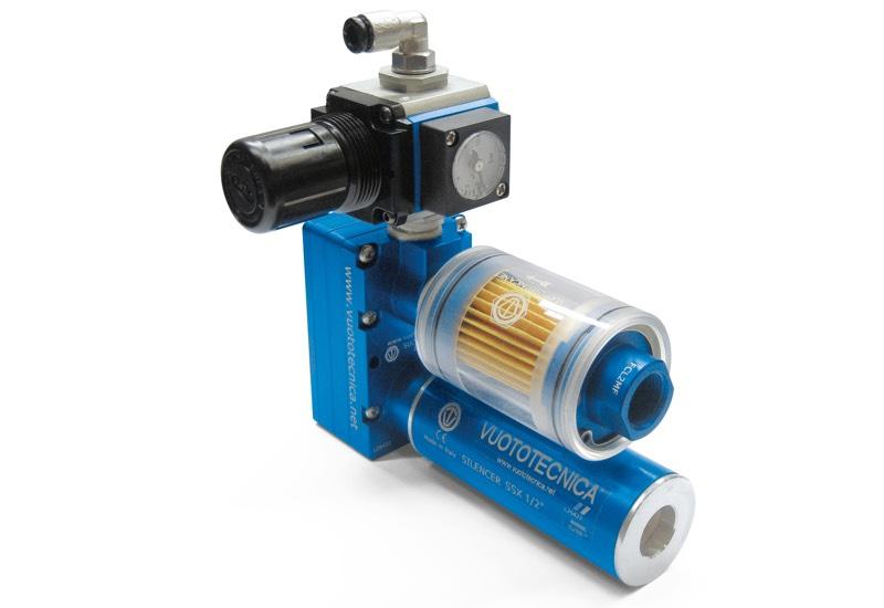 Small pneumatic suction pumps PA 10, PA 14 and PA 18