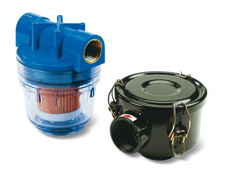 Pneumatic pump suction filters