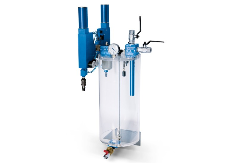 Safety suction units with syphon filter