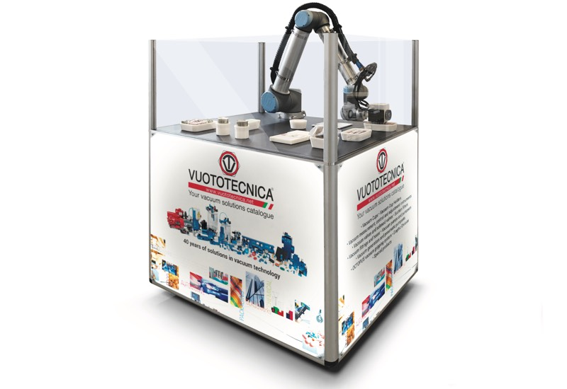 Samples and equipment for demonstration use - Equipped robot for gripping and handling objects with special vacuum cups and grippers - VACBOT